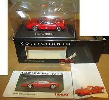 Modellino Herpa Ferrari 348 TB Rossa Collection 1:43 SPESE GRATIS