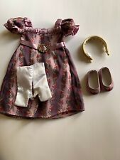 American Girl Caroline Holiday Gown Purple Complete Outfit Dress Shoes Headband