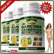 95% MAX Garcinia Cambogia Capsules 3000mg Daily Slimming Weight Loss Diet Pills