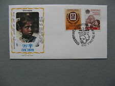 INDIA, cover FDC 1979, year of the Child  Ghandi