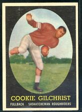 COOKIE GILCHRIST: 1958 Topps CFL #28: Cookie's Rookie Card