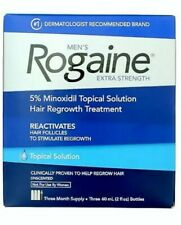 Rogaine Men's Extra Strength Hair Regrowth Treatment, Unscented EXP 01/21.