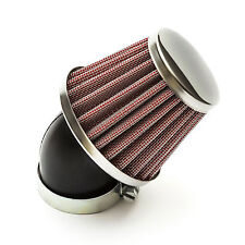 K N Style Red Silver Air Filter 38mm Bent Neck Pitbike Dirtbike 110cc - 125cc