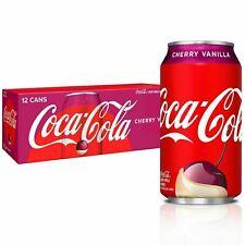 Coca Cola Cherry Vanilla Cola Soda 12 pack Pop Soft Drink 12 oz
