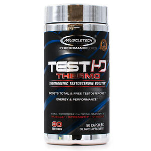 MuscleTech Test HD Thermo (90ct) Intense bellyfat burner & Testosterone booster