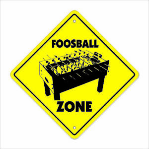 Foosball Crossing Decal Xing game room table soccer player play team dorm