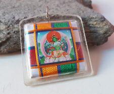 Green Tara Tibetan Protection Amulet  Locket