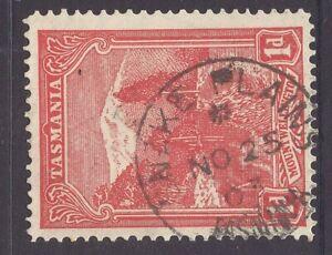 Tasmania SNAKE PLAINS 1903 pmk on 1d pictorial rated S- (4*) by Hardinge