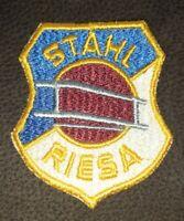 Orig. DDR Aufnäher BSG Stahl Riesa Emblem DDR Oberliga Fussball Sachsen Sport