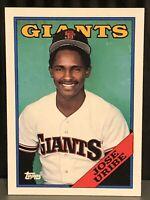 1988 Topps Jose Uribe Baseball card San Francisco Giants MLB #302 SF Rare Card