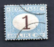 1870 ITALIA : Segnatasse - Lire 1  - usato