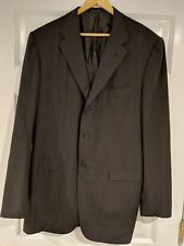Kiton Napoli Men's Suit Jacket Blazer Blanc Blu Super180's 100% Wool 46US /56 EU