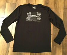 Youths Boys Under Armour Longsleeve Shirt XL..Black Gray And White
