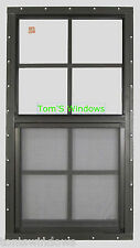 Shed Window 18 X 36 SAFETY GLASS Garage Window BROWN Flush Barns Sheds Playhouse