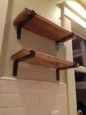 2 Raw Metal Shelf Brackets Handmade 6x11 1/2