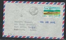ST LUCIA  (P2608B) 1970 10C AIRPLAE  SENT INTERISLAND TO MONTSERRAT