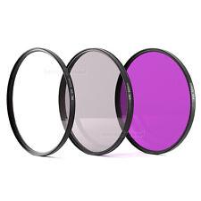 52mm UV + POL + FD FLD Filter Set Filterset Polfilter 52 mm