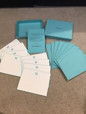 Set Of 8 Tiffany & Co. Vip Gift Blank Note Greeting Cards With Box