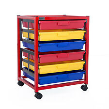 Single Column 6 Level A3 Classroom Trolley