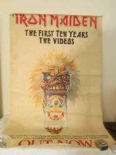 "vintage 1990 Iron Maiden The First Ten Years Poster 40"" x 60"""