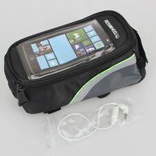 "Roswheel Bicycle Frame Pannier Front Tube Bag For 4.8"" phone With Headphone V7"