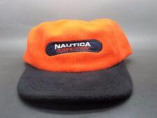 NWT VTG 90's Nautica Competition Orange Navy Fleece Adjustable Dad Hat Cap