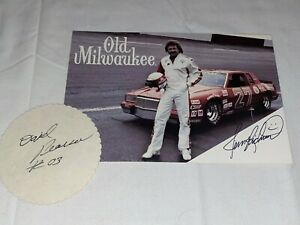Tim Richmond David Pearson 1983-1984 VINTAGE NASCAR autographed photos VHTF RARE