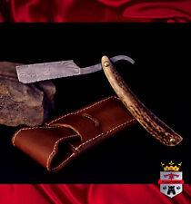 Damascus razor blade, 029B Cut throat razor KingForge, shaving gift barber blade