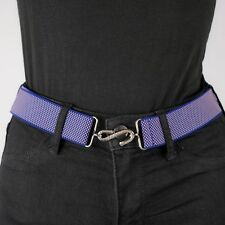 Blue Elastic Belt Micro Weave Pink Purple Womens Elasticated Snake Belt Unisex