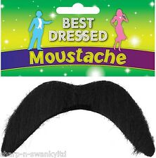 Mens Stick On Moustache Fancy Dress Costume Mexican 118 118 Mario Luigi Outfit