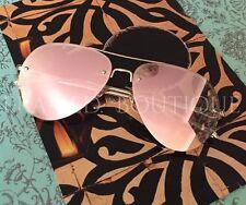 Luxe or rose miroir réfléchissant lunettes de soleil aviateur célébrité designer .2