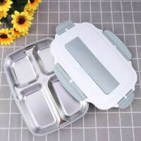 Portable Stainless Steel Food Container Thermal Insulated Lunch Box Bento