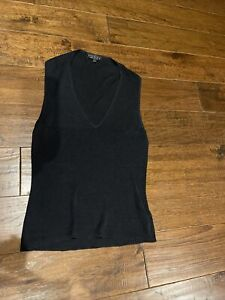 Vintage gucci Black V Neck Silk Top 1998 Tom ford Collection Size L