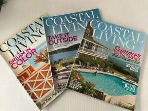 Coastal Living Magazine ~ March - April - June 2015  Lot of 3