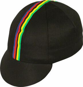 Pace Sportswear Traditional Cycling Cap: Black, XL