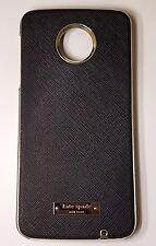 Kate Spade NY Leather Wrap Case For Motorola Moto Z Play Droid - Saffiano Black