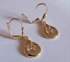 Ohrhänger mit Klappbrisur gold plattiert Ohrringe Gold Juwelier Qualität Design