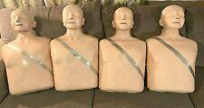 Set Of 4 Laerdal Little Anne Cpr Training Manikin 4 Light Amp 4 Dark Masks
