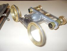 Antique  Binoculars Folding lens w/leather case CF very old very rare make offer