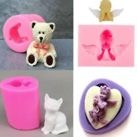 3D Baby/Bear/Cat Silicone Fondant Mold Cake Baking Decorative Candy Soap Mold