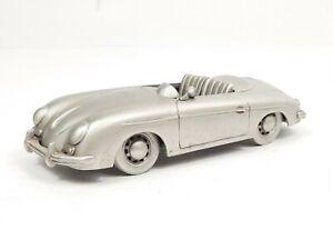 The Danbury Mint 1957 Porsche Speedster Convertible Pewter Model Car 1/43 Scale
