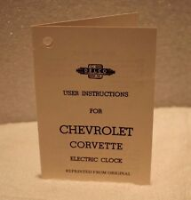 Chevrolet Corvette Electric Clock User Instructions Booklet from the 1950's