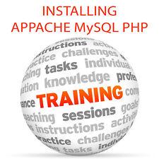 Installazione di appache MySQL e PHP-Video formazione tutorial DVD