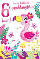 Happy Birthday Card Girl Young Open Pink Shoes Sentiment Verse Envelope Included