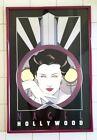 Patrick Nagel original framed Hollywood print dated 1979