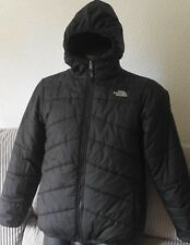 The North Face Men's/Boys  Reversible Quilted Jacket Black /grey ,VGC,Authentic