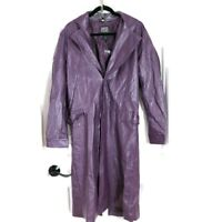 Suicide Squad Joker Coat Cosplay Costume Purple Faux Leather Roleplay Jacket S