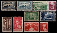 L'ANNÉE 1935 Complète, Neufs * = Cote 294 €  / Lot Timbres France 299 à 308