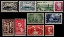 L'ANNÉE 1935 Complète, Neufs * = Cote 294 €  / Lot Timbres France n° 299 à 308