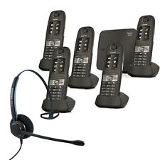 Cordless Phone Gigaset E630A 5 Handsets w Answer Machine and Corded Headset